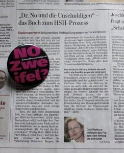 """Hamburger Abendblatt berichtet über das Strafprozess zum Buch """"DR. NO und die Unschuldigen"""""""