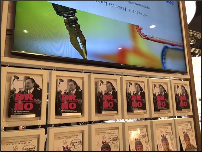 Dr. NO auf der Frankfurter Buchmesse 2015, BoD-Stand
